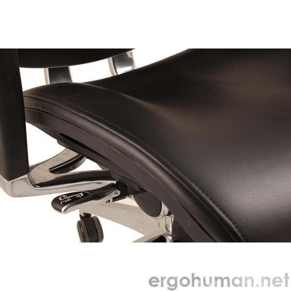 Nefil Office Chair Leather Seat Detail